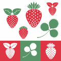 Strawberry set isolated objects vector illustration eps Royalty Free Stock Images