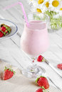 Strawberry shake delicious cold Royalty Free Stock Image