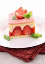 Strawberry shortcake Royalty Free Stock Photos