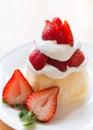 Strawberry shortcake dessert Royalty Free Stock Photo