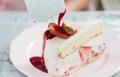 Strawberry shortcake Royalty Free Stock Photo