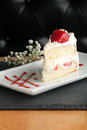 Strawberry Shortcake Slice Royalty Free Stock Photo