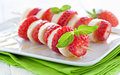 Strawberry skewers Royalty Free Stock Photo