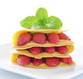 Strawberry slide cake Royalty Free Stock Images