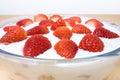 Strawberry Slovak Desert Stock Image
