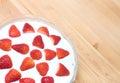Strawberry Slovak Desert Royalty Free Stock Photo