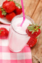 Strawberry smoothie Stock Image