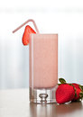 Strawberry smoothie fresh perfect for breakfast or brunch Stock Photos