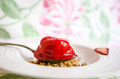 Strawberry sorbet Royalty Free Stock Photo
