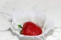 Strawberry splash Royalty Free Stock Photo