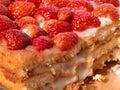 Strawberry Sponge Cake Royalty Free Stock Photo