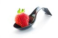 Strawberry in a spoon Royalty Free Stock Photo