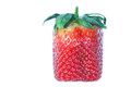 Strawberry Square. On a white background. Stock Image
