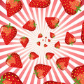 Strawberry swirl Royalty Free Stock Images