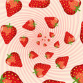 Strawberry swirls Royalty Free Stock Photography