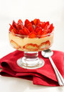 Strawberry tiramisu Stock Photography