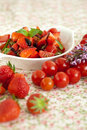 Strawberry tomato salad Stock Image
