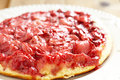 Strawberry upside down cake see my other works in portfolio Stock Image