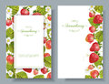 Strawberry vertical banners