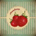 Strawberry vintage card Royalty Free Stock Photo