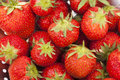 Strawberry washed fresh ripe strawberries full frame background Stock Photos
