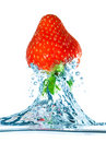 Strawberry and water Royalty Free Stock Image