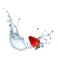 Strawberry In Water Royalty Free Stock Photo