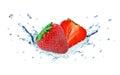Strawberry And Water Splash