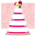 Strawberry Wedding Cake Stock Photography