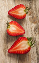 Strawberry on wooden background close up Royalty Free Stock Photo