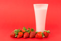 Strawberry yogurt drink Royalty Free Stock Photo
