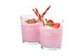 Strawberry Yogurt Smoothie Royalty Free Stock Photo