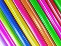 Straws drinking plastic on white background Royalty Free Stock Photo
