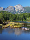 Strbske Pleso in Slovak High Tatras at summer Royalty Free Stock Photos