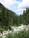Stream in the austrian alps mountain Stock Images