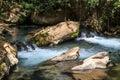 Stream Bahias (Hermon), National Reserve, Israel. Golan heights Royalty Free Stock Photo