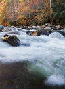 Stream in the mountains,  fall colors Royalty Free Stock Photo