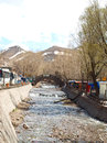 Stream running over rocks in kandovan village in tabriz iran Stock Photography