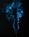 Stream of smoke on a black background Royalty Free Stock Photography