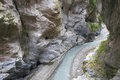 Stream of taroko gorge Royalty Free Stock Photo
