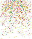 Streamer and confetti Royalty Free Stock Photos