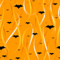 Streamers and bats seamless background Stock Photography