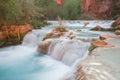 Streaming water at the bottom of Havasu Falls Royalty Free Stock Photo