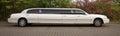 Strech limousine in white
