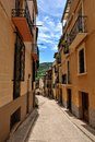 Streeets of the small spanish town Benassal. Stock Photography