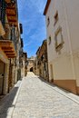 Streeets of the small spanish town Benassal. Stock Images