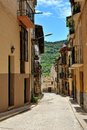 Streeets of the small spanish town Benassal. Royalty Free Stock Image
