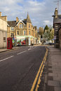 Street in aberfeldy scotland is a pretty lively town highland perthshire the town is situated on s longest Royalty Free Stock Photo