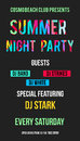 Street Advertisement or poster for summer night beach party