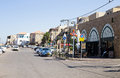 A street in akko acre israel city street with cars resident circa sep residentil houses and cafe the old ciyt of Stock Images